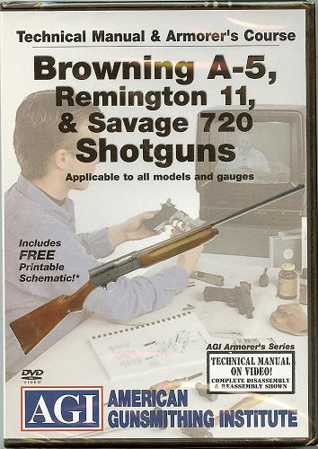 AGI - Browning A-5, Remington 11, & Savage 720 DVD