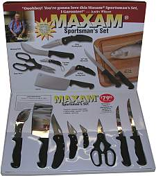 Maxam 8 Piece Sportsman's Knife Set